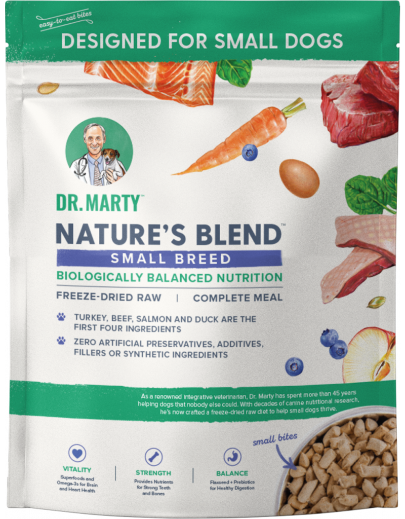Dr. Marty's Freeze-Dried Nature's Blend Small Breed Raw Dog Food