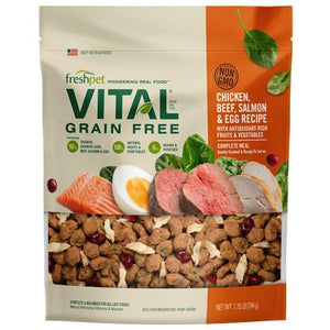 Freshpet Vital Complete Meals Grain-Free Chicken, Beef, Salmon & Egg Fresh Dog Food-Le Pup Pet Supplies and Grooming