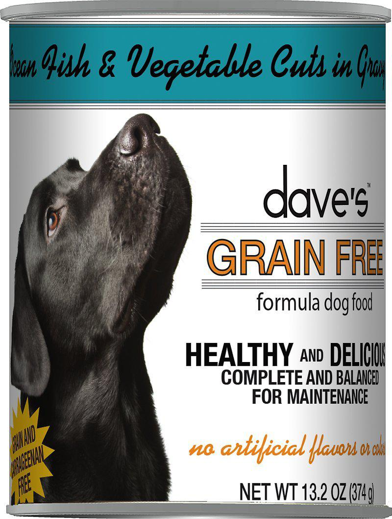 Dave's Pet Food Grain Free Ocean Fish & Vegetables Cuts in Gravy Canned Dog Food-Le Pup Pet Supplies and Grooming
