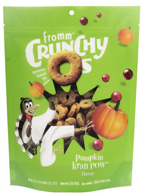 Fromm Crunchy O's Pumpkin Kran Pow Dog Treats, 6oz-Le Pup Pet Supplies and Grooming