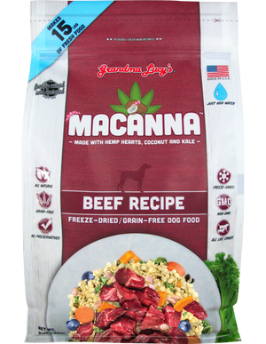 Grandma Lucy's Macanna Beef Recipe Freeze-Dried Grain-Free Dog Food, 3-lb bag