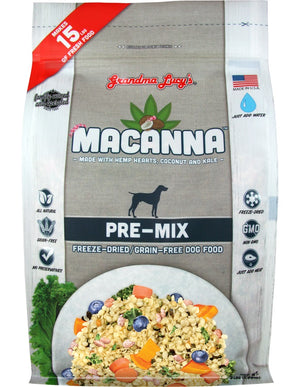Grandma Lucy's Macanna Pre-Mix Freeze-Dried Grain-Free Dog Food, 3-lb bag