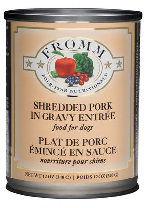 Fromm Four-Star Nutritionals Shredded Pork in Gravy Wet Dog Food-Le Pup Pet Supplies and Grooming
