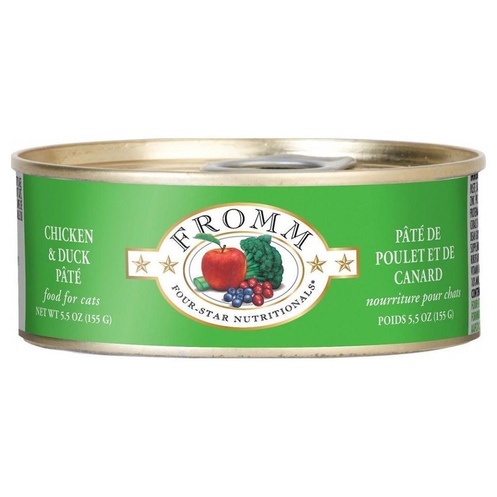 Fromm Four-Star Nutritionals Grain-Free Chicken & Duck Pâté Wet Cat Food-Le Pup Pet Supplies and Grooming