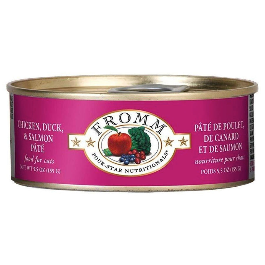 Fromm Four-Star Nutritionals Grain-Free Chicken, Duck, & Salmon Pâté Wet Cat Food-Le Pup Pet Supplies and Grooming