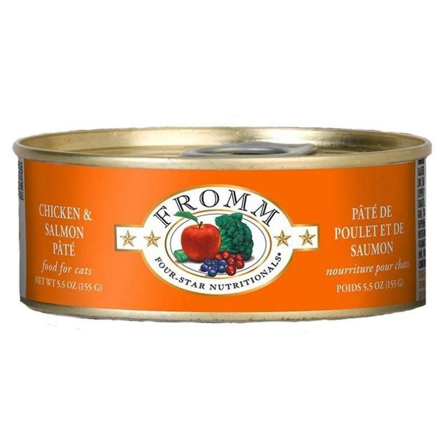 Fromm Four-Star Nutritionals Grain-Free Chicken & Salmon Pâté Wet Cat Food-Le Pup Pet Supplies and Grooming