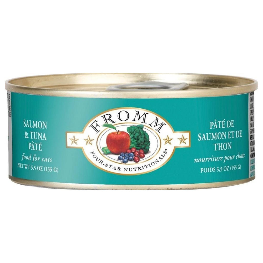 Fromm Four-Star Nutritionals Grain-Free Salmon & Tuna Pâté Wet Cat Food-Le Pup Pet Supplies and Grooming