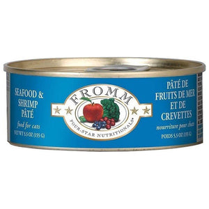 Fromm Four-Star Nutritionals Grain-Free Seafood & Shrimp Pâté Wet Cat Food-Le Pup Pet Supplies and Grooming