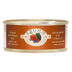 Fromm Four-Star Nutritionals Grain-Free Turkey & Pumpkin Pâté Wet Cat Food-Le Pup Pet Supplies and Grooming