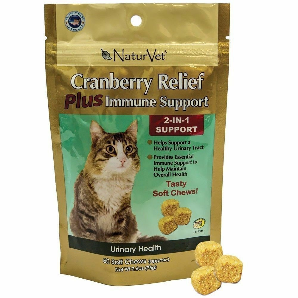 NaturVet Cranberry Relief Soft Chews Cat Treat