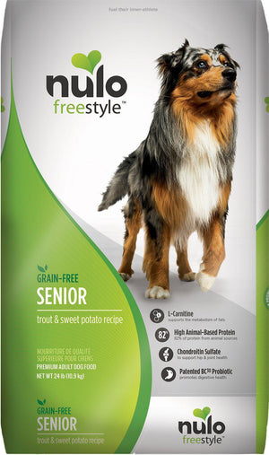 Nulo Freestyle Trout & Sweet Potato Recipe Grain-Free Senior Dry Dog Food-Le Pup Pet Supplies and Grooming