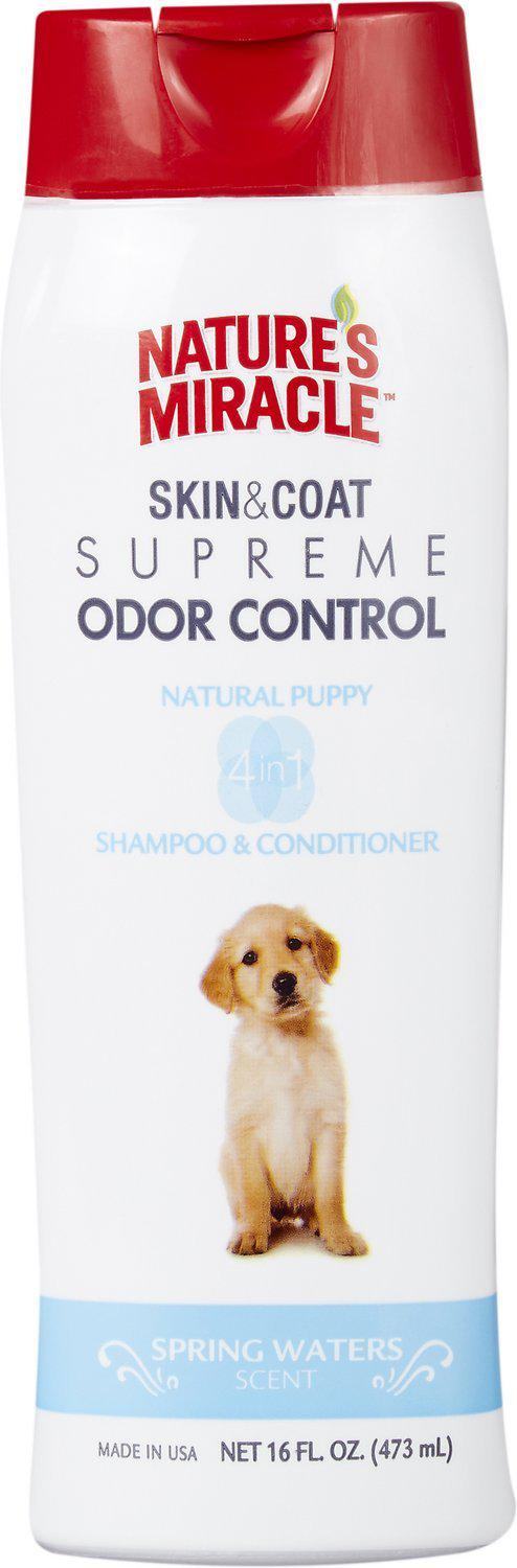 Nature's Miracle Supreme Odor Control Natural Puppy Shampoo & Conditioner  Dog Supply