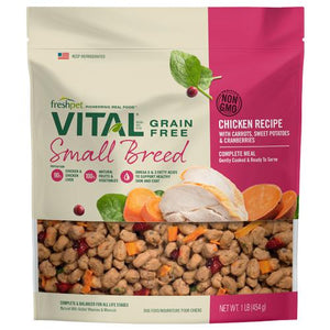 Freshpet Vital Small Breed Grain-Free Chicken Recipe with Carrots, Sweet Potatoes & Cranberries Dog Food-Le Pup Pet Supplies and Grooming