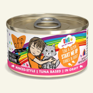 Weruva BFF Oh My Gravy Tuna & Salmon Start Me Up Grain-Free Wet Cat Food-Le Pup Pet Supplies and Grooming