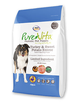 Pure Vita Turkey & Sweet Potato Entrée Grain Free Dry Dog Food-Le Pup Pet Supplies and Grooming