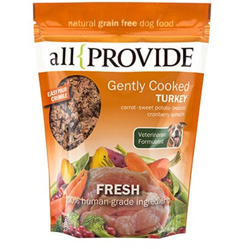 Allprovide Gently Cooked Turkey Crumble Grain-Free Frozen Dog Food-Le Pup Pet Supplies and Grooming