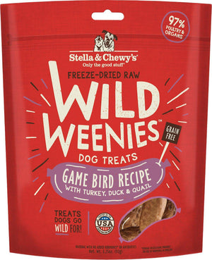 Stella & Chewy's Wild Weenies Game Bird Freeze-Dried Raw Dog Treats, 3.25oz-Le Pup Pet Supplies and Grooming
