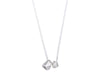472 // Silver Geometric Necklace