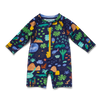 Beach Forest Baby Swim Long Sleeve Zip Suit