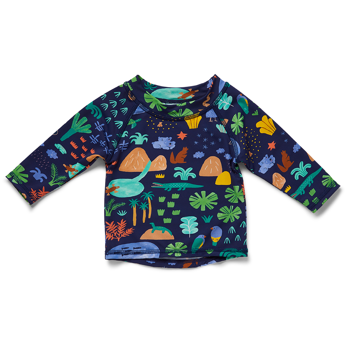Beach forest Baby Swim Long sleeve Rashvest