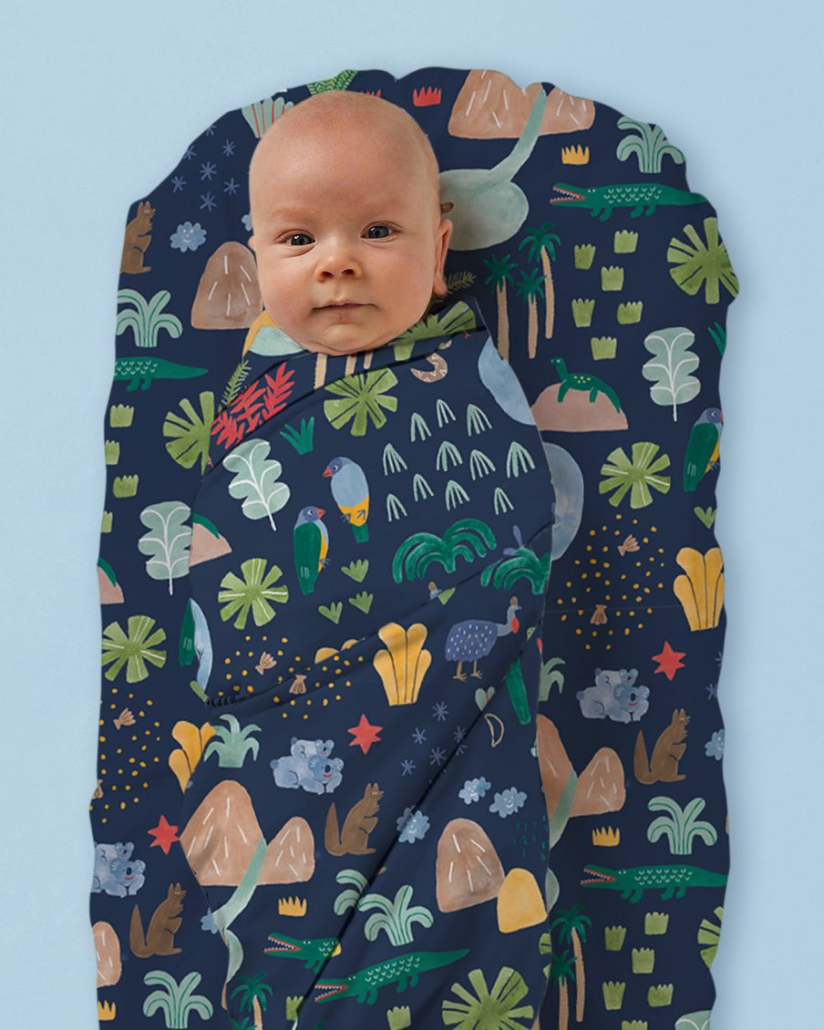 Beach Forest - Baby wrap