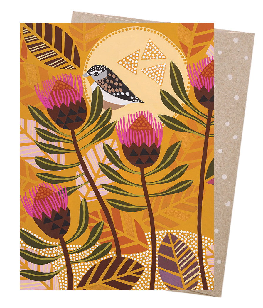 Pardalote's Sunrise  // Greeting card