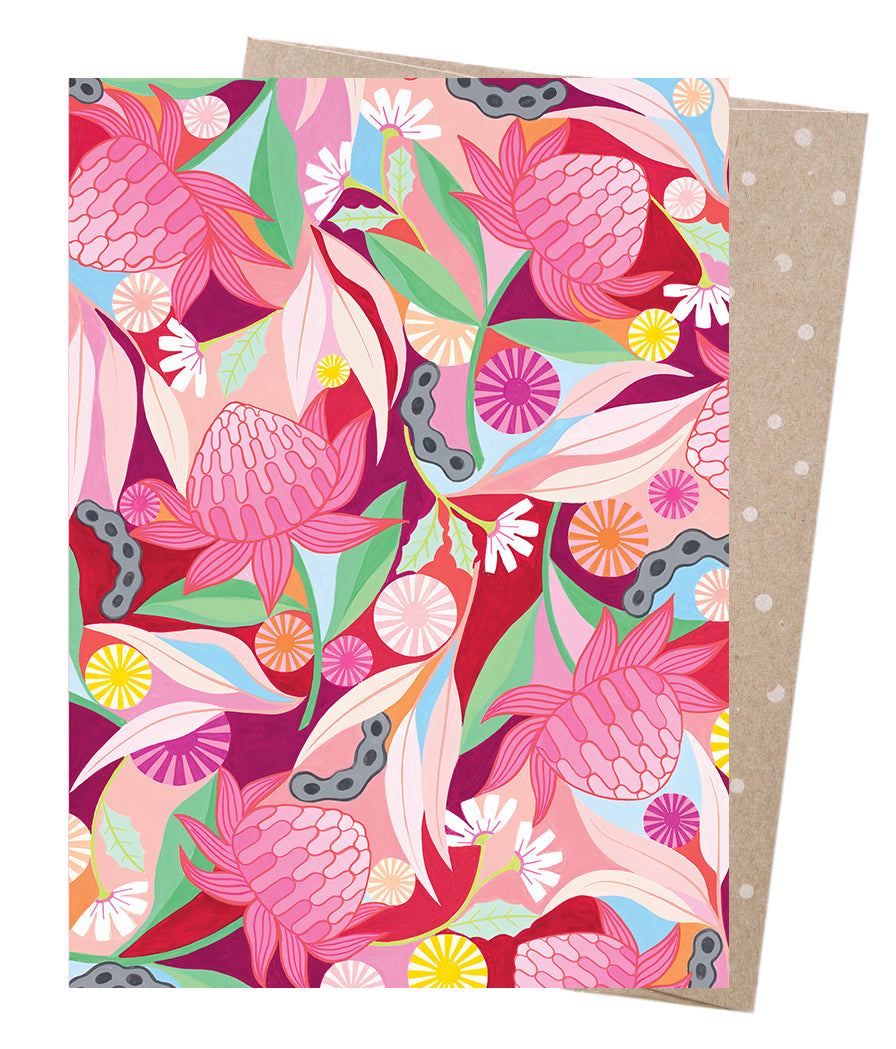 Waratah Whirl  // Greeting card
