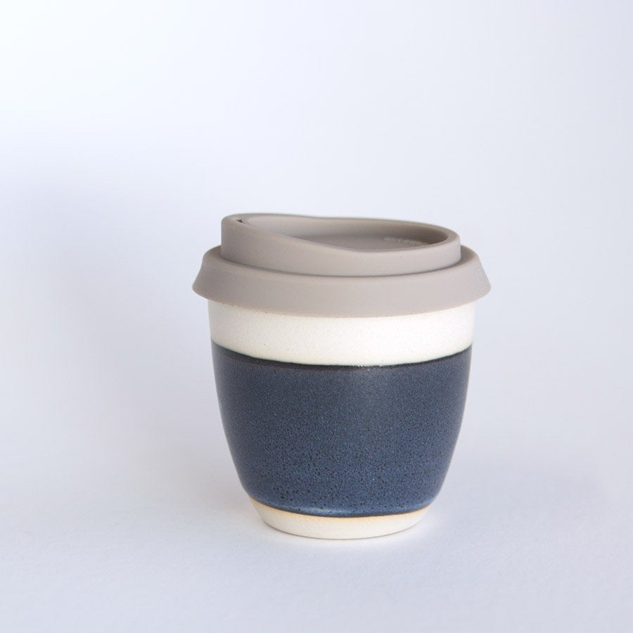 Reusable takeaway cup ~ stormy blue 8oz