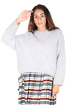 MONTREAL Angora Knit Sweater SILVER GREY