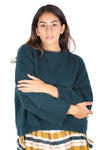 MONTREAL Angora Knit Sweater TEAL GREEN