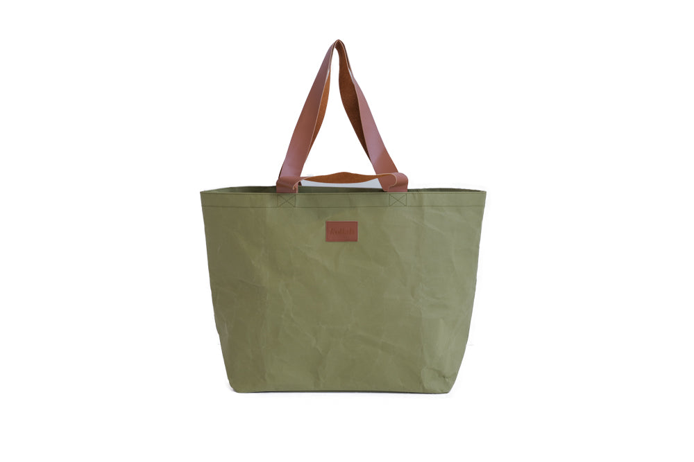 Olive PAPER Washable Shopper Tote