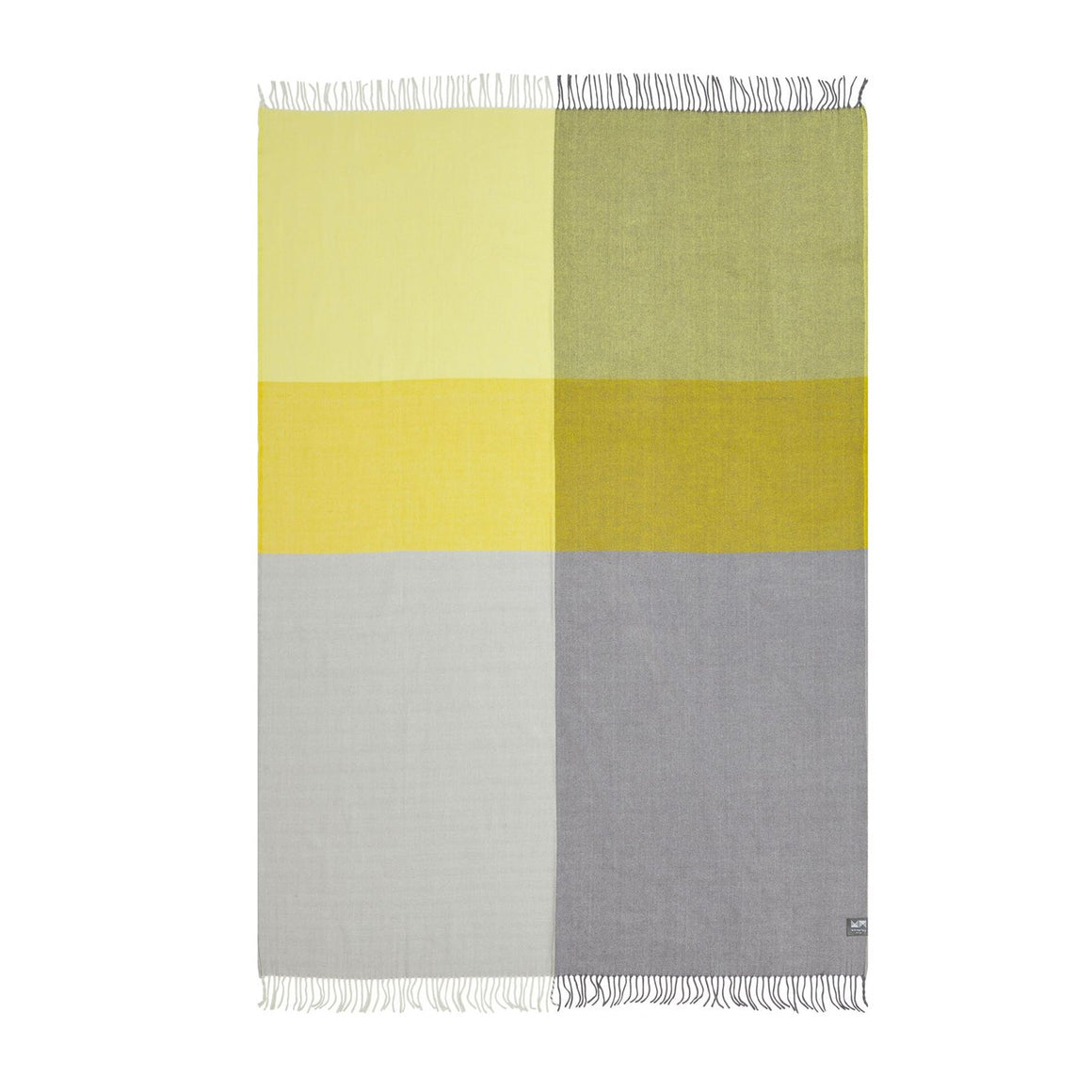 Plaid Merino Throw - Yellow