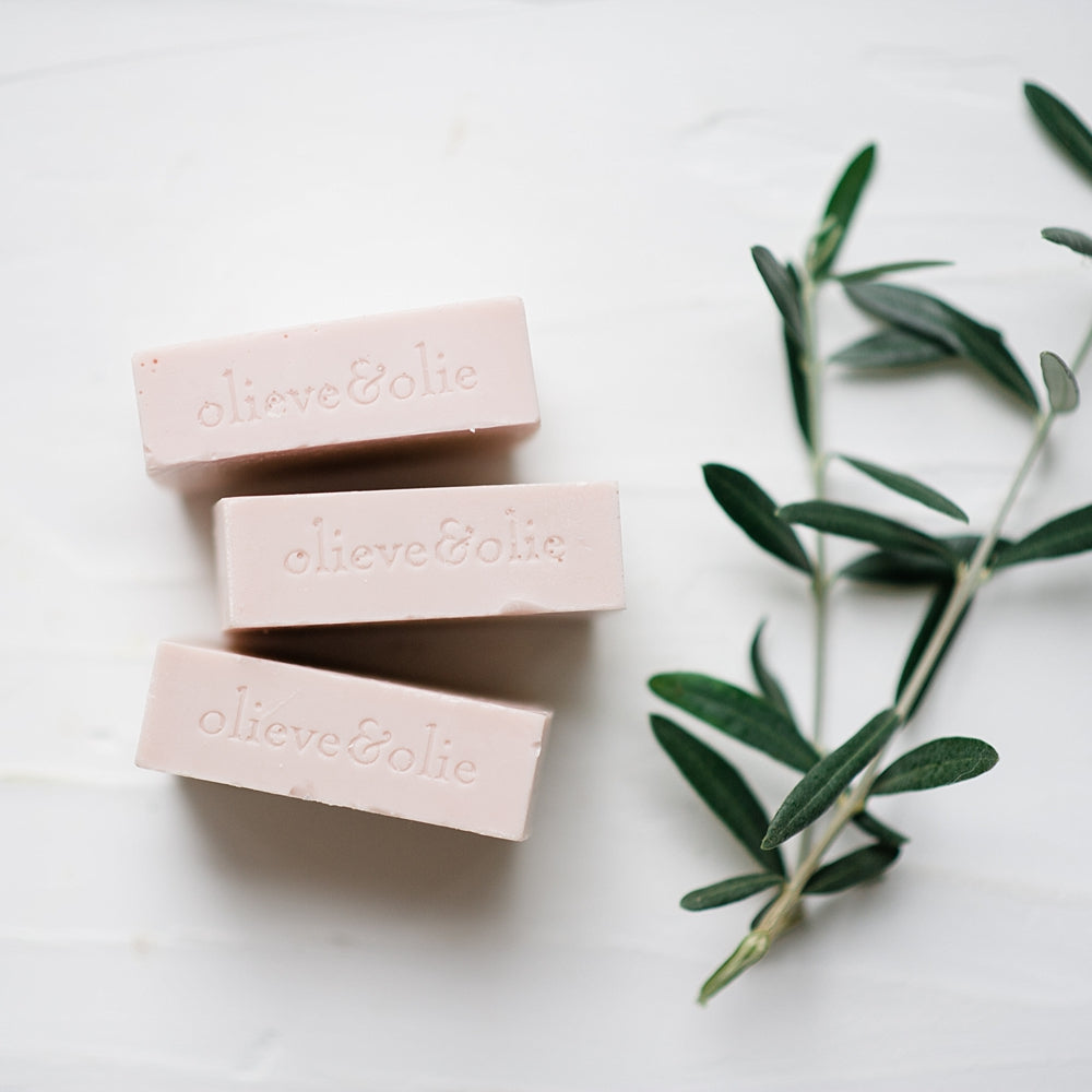 Rose Geranium and Pink Clay Soap - Pack of 3