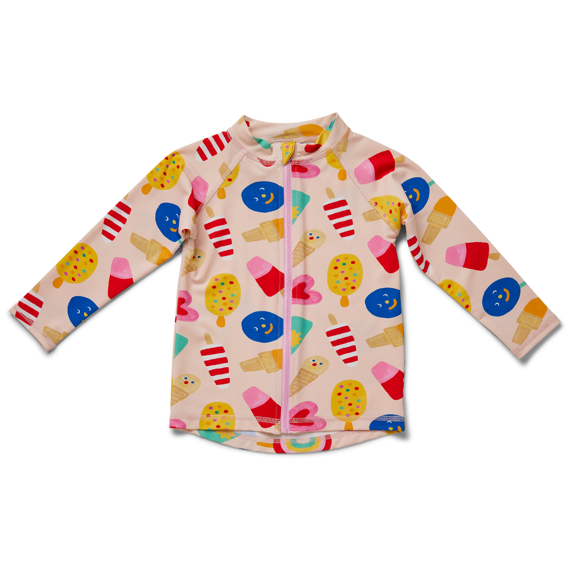 Sweet Dreams Kids Long Sleeve Zip rash vest