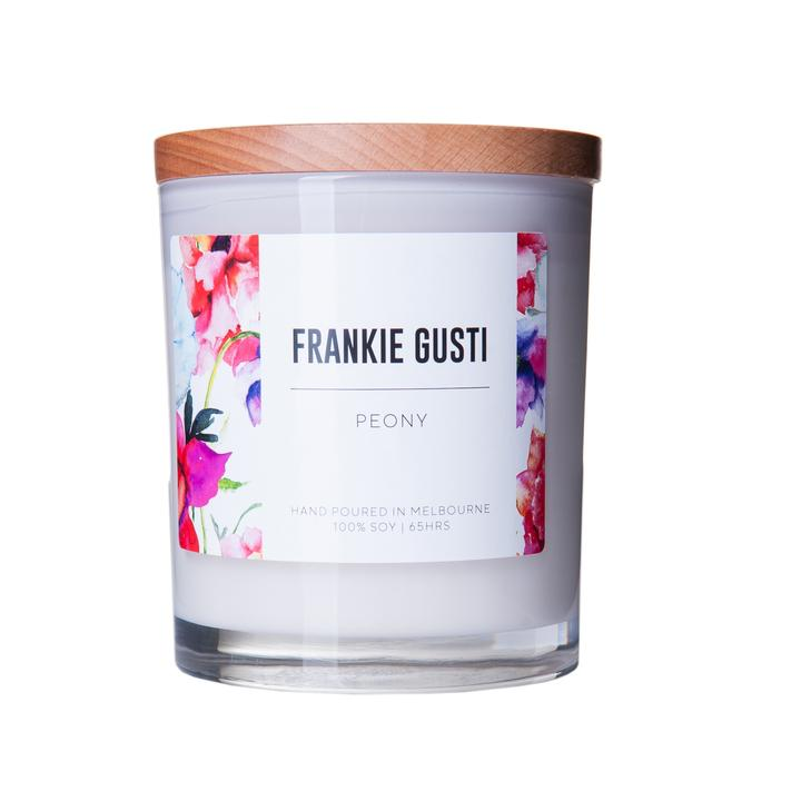 Peony Wood Lid Soy Candles