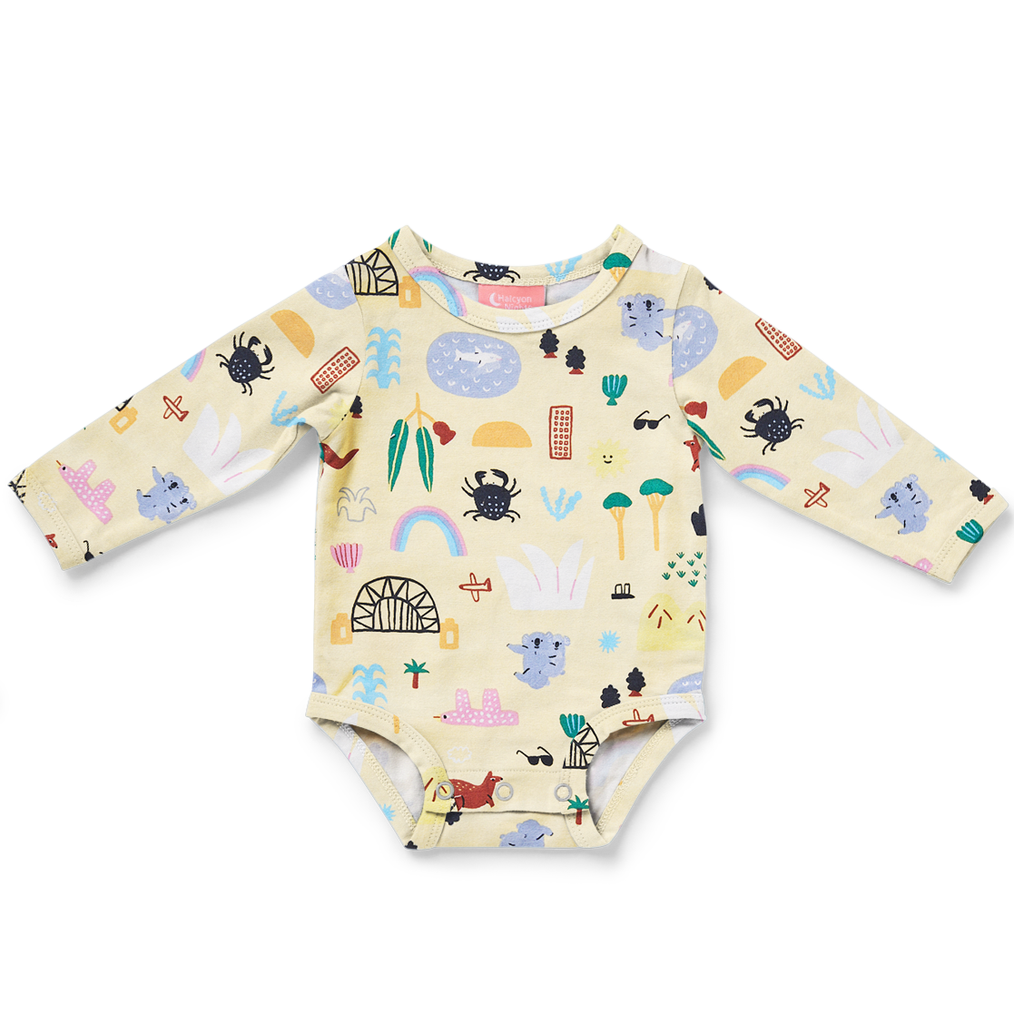 Sun City Long Sleeve Bodysuit
