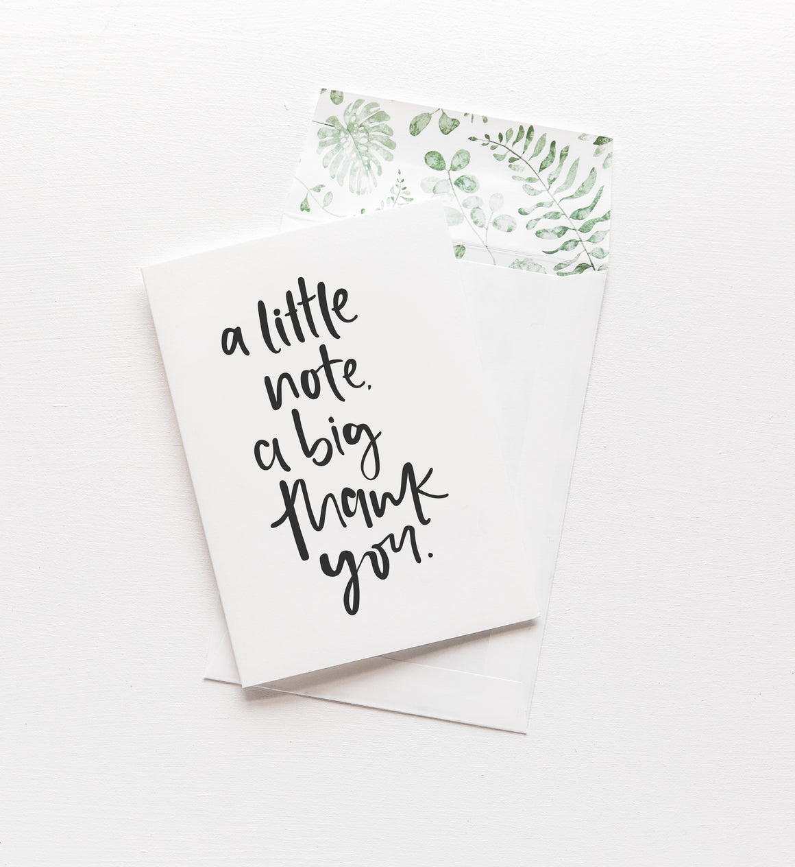 A Little Note, A Big Thank You // Greeting Card