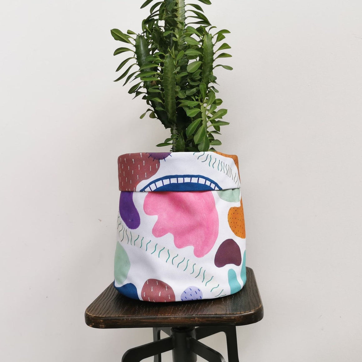 Fabric Planter Pots- Abstract