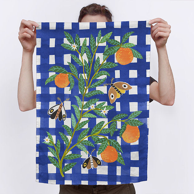 Orange You Glad Tea Towel