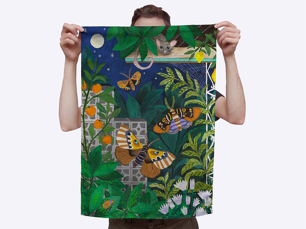 Animalia Tea Towel