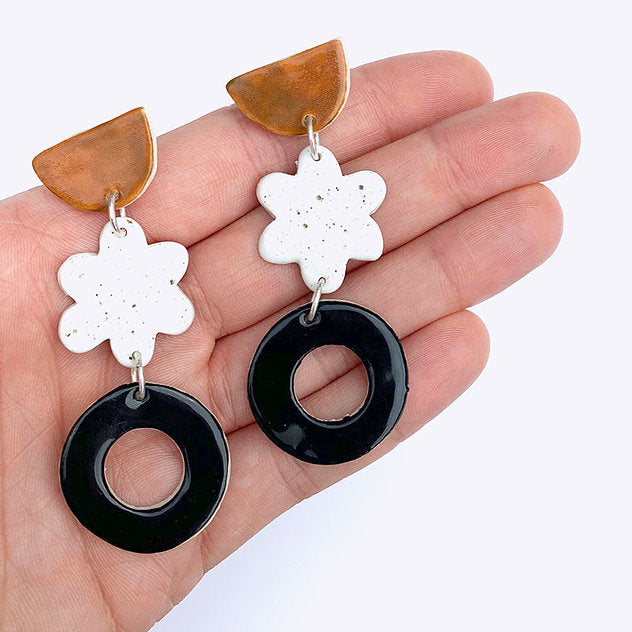 Gather Ceramic Drop Earrings