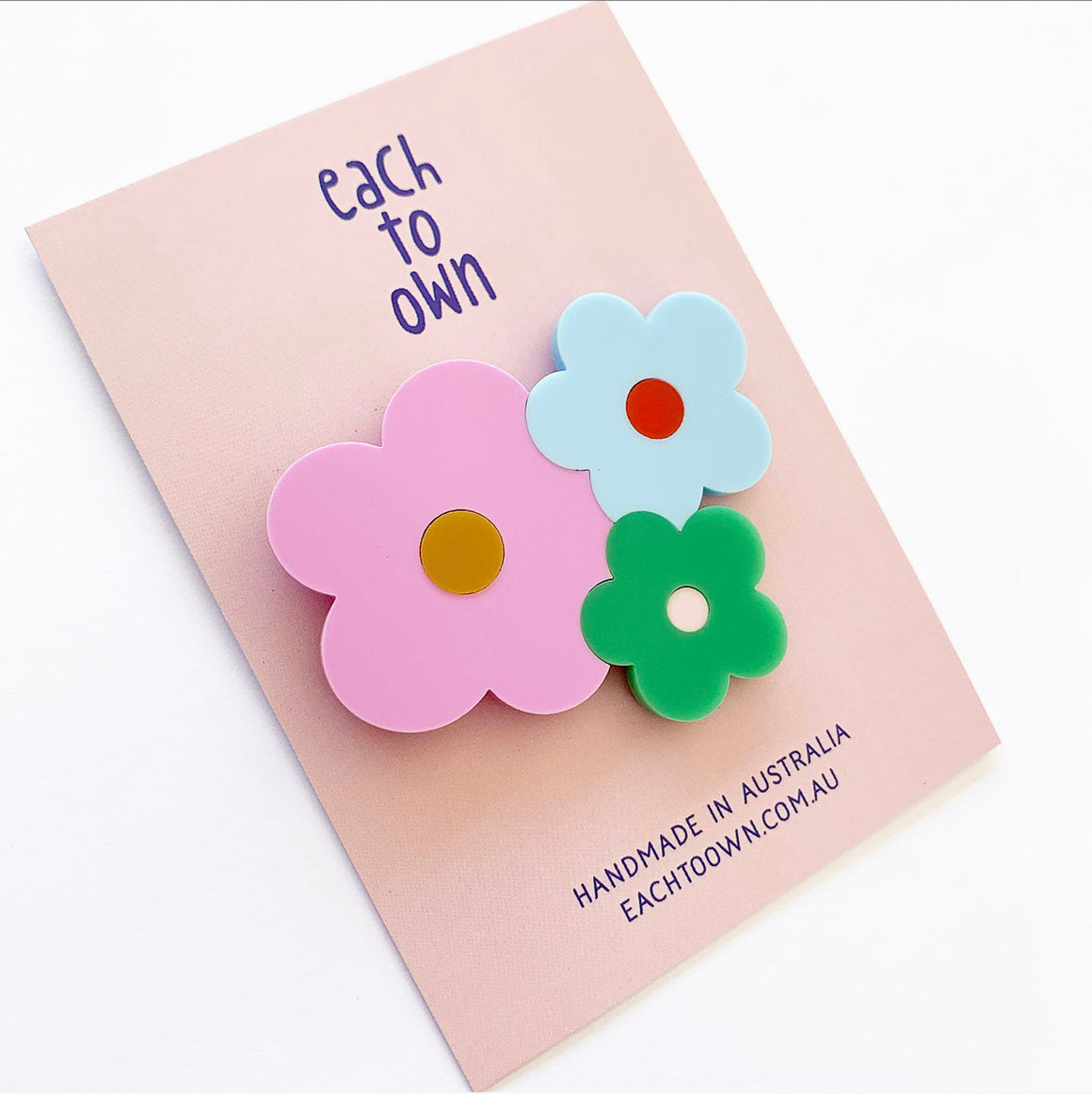 Happy Posie Flower Brooch - Spring