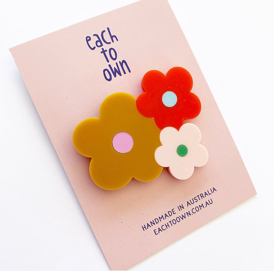 Happy Posie Flower Brooch - Autumn