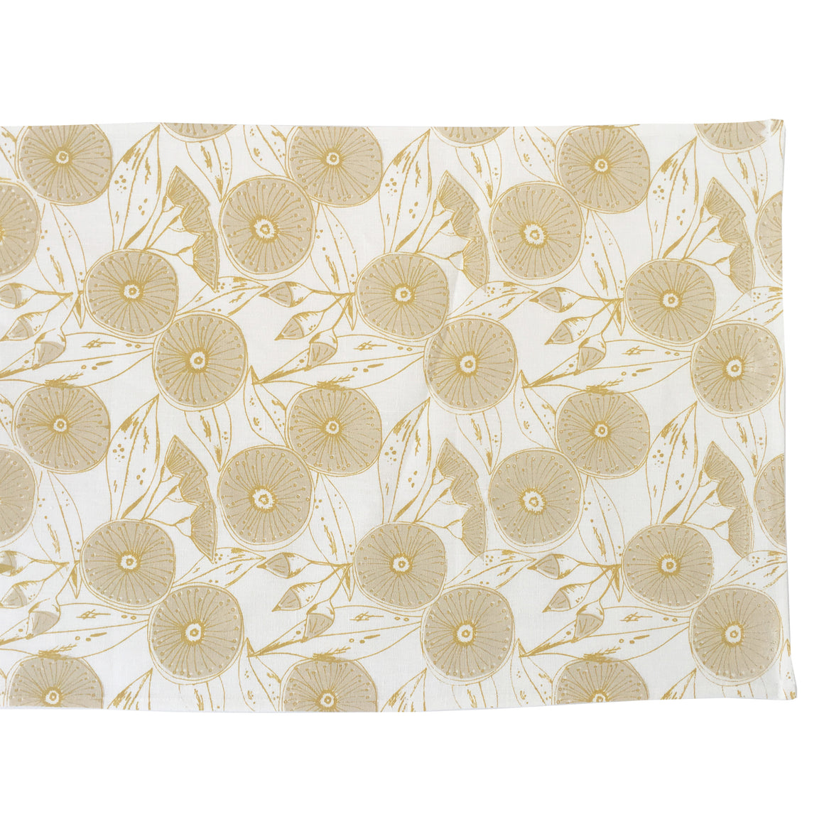 Gum Flower Table Runner Cream