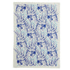 Cockatoo tea towel Cobalt