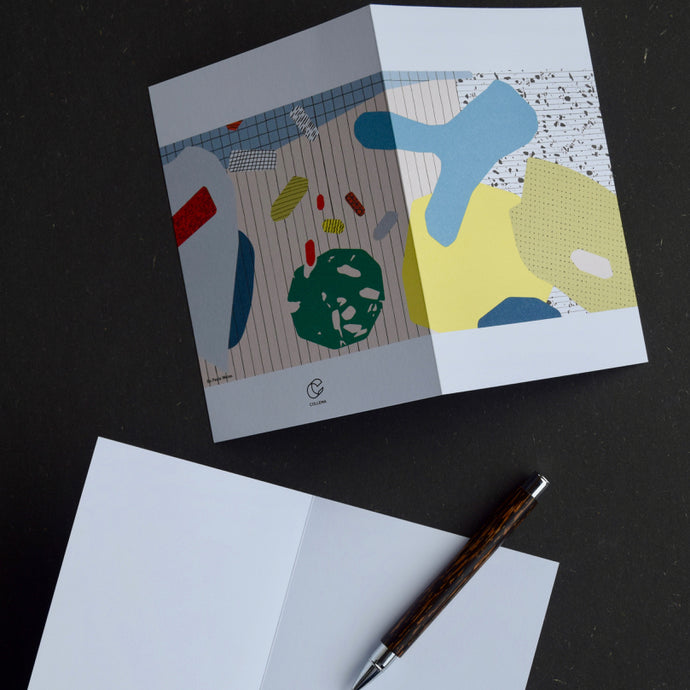 Grid Love by Paula Weise: 3 Notecards