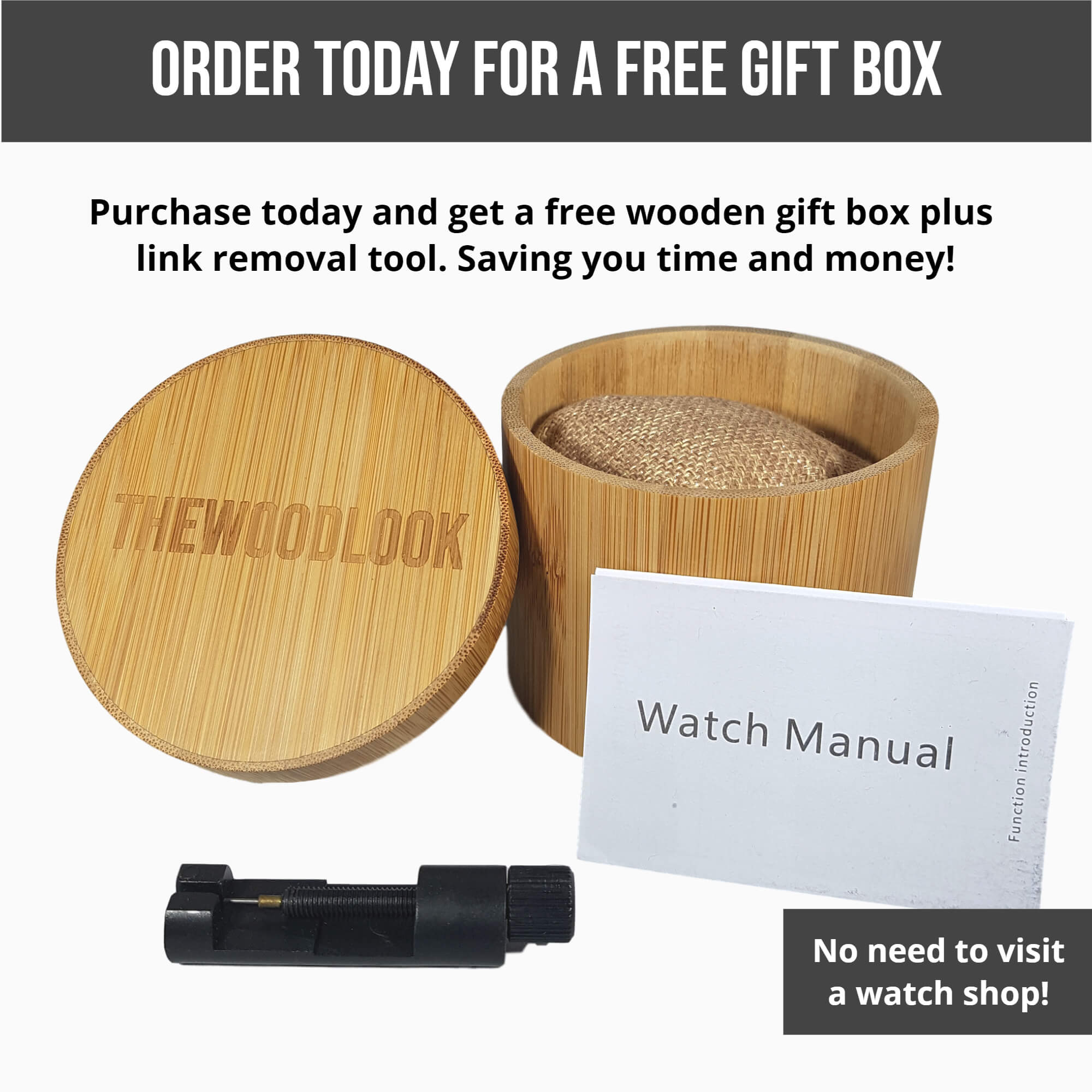 watch box for wooden watch