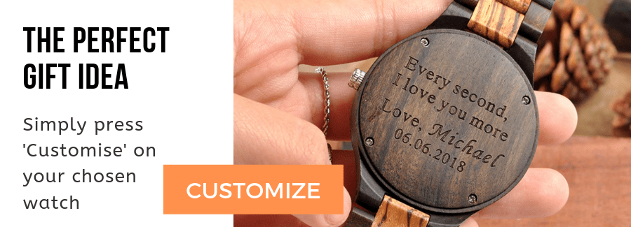 engraved wooden watches uk