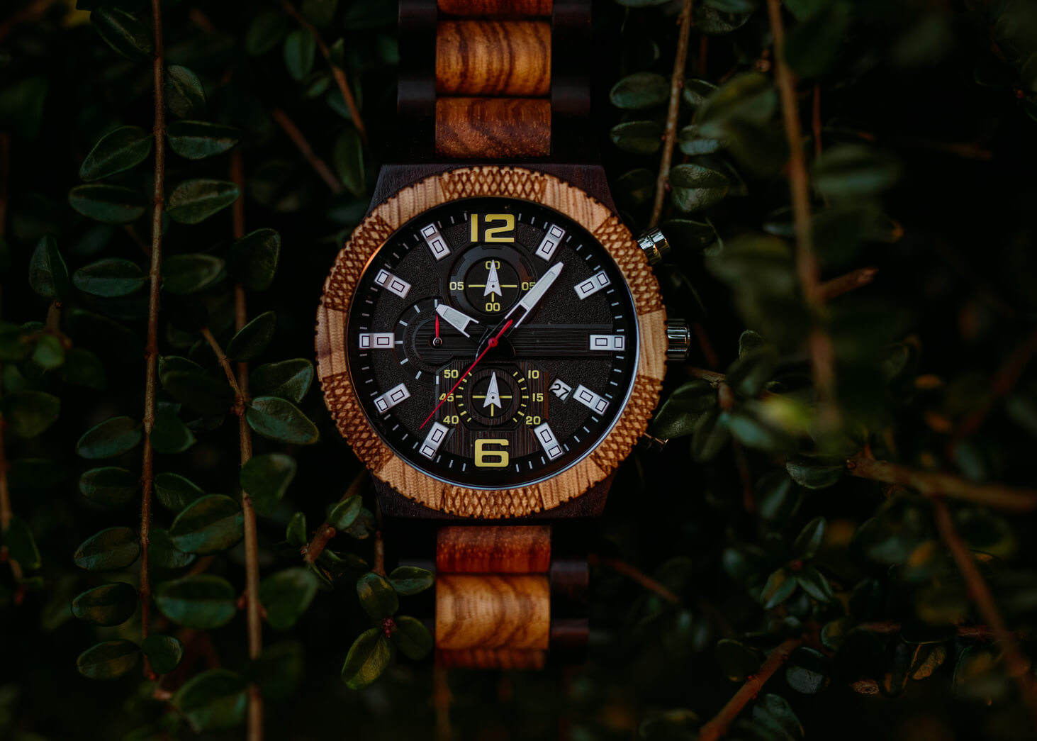 Geneva - Chronograph Wood Watch