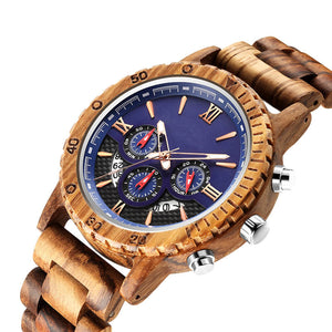 Milan - Chronograph Quartz Wood Watch - The Wood Look